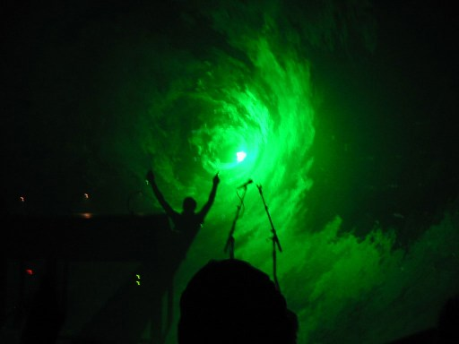 Underworld live green laser 2003